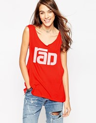 Wildfox Couture Wildfox Radical Cut Off T Shirt Pink