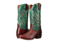 Stetson Wing Tips Brown Turquoise Cowboy Boots