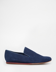 Frank Wright Slip On Weave Plimsoll Navy