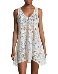 J Valdi Mesh Accented Paisley Cover Up Dress