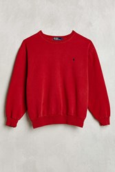 Urban Renewal Vintage Polo Red Sweatshirt Assorted
