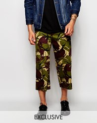 Reclaimed Vintage Camo Culottes