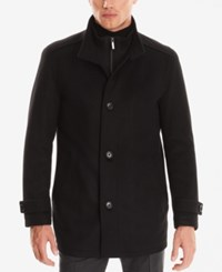 Hugo Boss Men's Virgin Wool Cashmere Car Coat Black