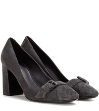 Bottega Veneta Intrecciato Suede Pumps Grey
