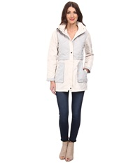 Rainforest Packable Color Blocked Jacket Cream Women's Coat Beige