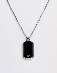 Emporio Armani Dog Tag Necklace In Silver