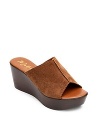Matisse Smooth Suede Slide Sandals Tan