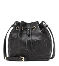 Jimmy Choo Juno Leather Bucket Bag Black