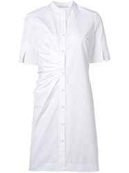 Nellie Partow Button Front Shirt Dress White