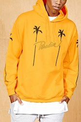 Forever 21 Bleach. Fleece Hoodie Yellow Black