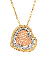Lord And Taylor 14K Yellow Gold Heart Pendant Necklace