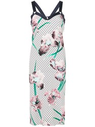 Fleur Du Mal Printed Midi Dress White