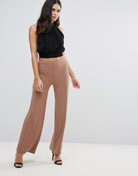 Love Wide Leg Trouser Suede Beige