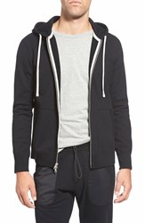 Reigning Champ Men's 'Core' Zip Front Hoodie Black