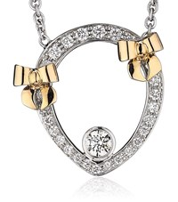 Theo Fennell Diamond And Rose Gold Bow Tryst Necklace Female