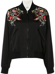 Christian Dada Embroidered Bomber Jacket Black