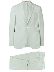 The Gigi Check Two Piece Suit Green