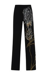 Stella Jean Lussuosa High Rise Straight Leg Pants Black