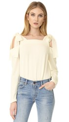 Amanda Uprichard Tie Top Ivory