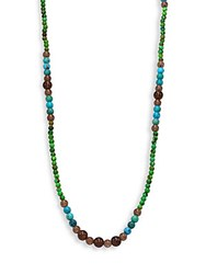 Stephanie Kantis Green Turquoise Howlite Blue Turquoise Howlite And Smoky Topaz Beaded Necklace