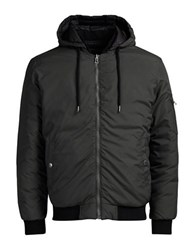 Jack And Jones Jorbeck Reversible Bomber Jacket Raven