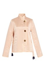 Trademark Silk Charmeuse Quilted Jacket Light Pink
