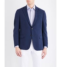 Armani Collezioni Classic Fit Houndstooth Jacket Navy