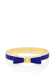 Kate Spade Perfectly Placed Hinged Leather Bow Bangle Blue Lapis
