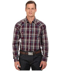 Roper Big Tall 0048 Wine Plaid Purple Men's Clothing