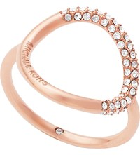 Michael Kors Brilliance Rose Gold Pave Ring