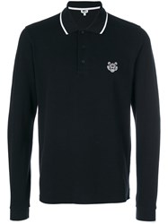 Kenzo Mini Tiger Polo Shirt Men Cotton Xl Black