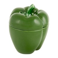 Bordallo Pinheiro Pepper Storage Jar Green Small
