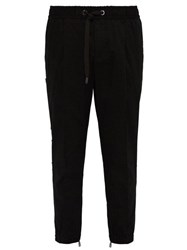 Dolce And Gabbana 3D Logo Panel Tailored Track Pants Black