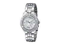 Guess G75511m Stainless Steel Bracelet Watch Silver Bracelet Silver Case With Crystals Silver Dial Watches Metallic