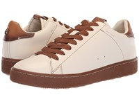 Coach Burnished Leather C101 Low Top Sneaker Chalk Dark Saddle Shoes Neutral