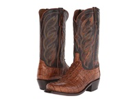 Lucchese M2691 Tan Hornback Caiman Cowboy Boots
