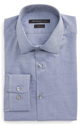 John Varvatos Men's Star Usa Slim Fit Stretch Geometric Dress Shirt Atlantic Blue
