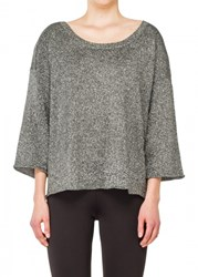 Leon Max Metallic Knitted Pullover
