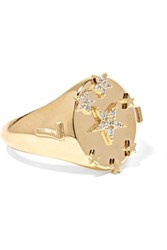 Foundrae Star 18 Karat Gold Diamond Ring