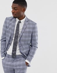 Selected Homme Slim Suit Jacket In Grey Check