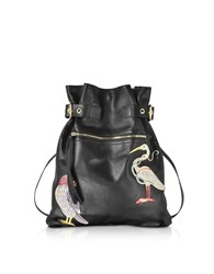 Red Valentino Handbags Black Leather Backpack