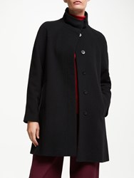 John Lewis Funnel Neck Swing Coat Black