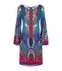 Hale Bob Crossover Abstract Dress Female Multi