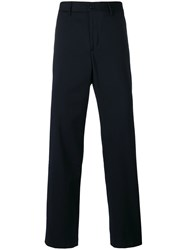 Our Legacy Straight Leg Chinos Men Virgin Wool 50 Blue