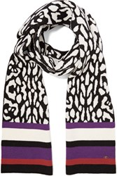 Just Cavalli Printed Wool Scarf Multi