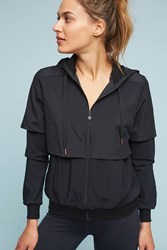 Anthropologie Picture Perforated Hooded Jacket Black