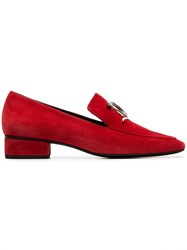 Dorateymur Red Han 23 Snake Brooch Suede Loafers