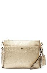 Sole Society Tasia Convertible Faux Leather Clutch Beige Sand Metallic