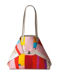 Akris Ai Medium Painted Colorblock Shoulder Bag Multi