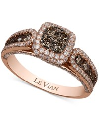 Le Vian Chocolatier Chocolate And White Diamond 1 3 8 Ct. T.W. Ring In 14K Rose Gold